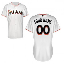 Miami Marlins Authentic Style Personalized Home White Jersey