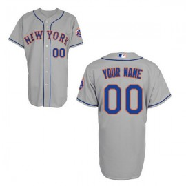 New York Mets Authentic Style Personalized Road Gray Jersey