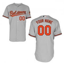 Baltimore Orioles Authentic Style Personalized Road Gray Jersey