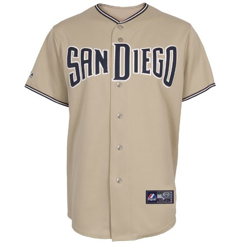 new concept 99642 8b484 San Diego Padres Classic Away Road Beige Jersey