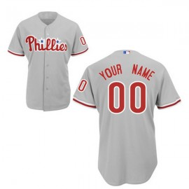 Philadelphia Phillies Authentic Style Personalized Road Gray Jersey