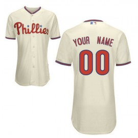 Philadelphia Phillies Authentic Style Personalized Alternate Home White Jersey