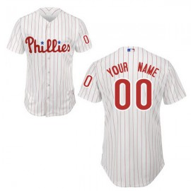 Philadelphia Phillies Authentic Style Personalized Home White Pinstriped Jersey