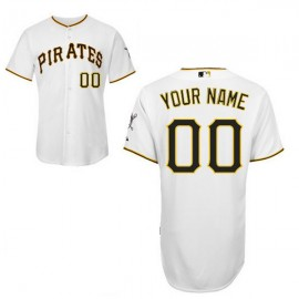 Pittsburgh Pirates Authentic Style Personalized Home White Jersey