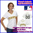Pittsburgh Pirates Authentic Personalized Women's White Jersey