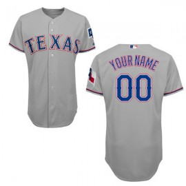 Texas Rangers Authentic Style Personalized Road Gray Jersey