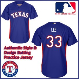 Texas Rangers Authentic Style Batting Practice Jersey Cliff Lee #33