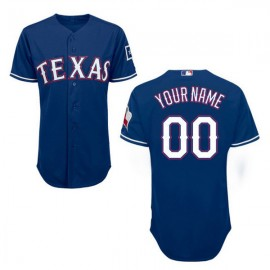 Texas Rangers Authentic Style Personalized Alternate 2 Blue Jersey