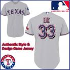 Texas Rangers Authentic Style Alternate 2 Gray Jersey Cliff Lee #33