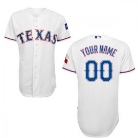 Texas Rangers Authentic Style Personalized Home White Jersey
