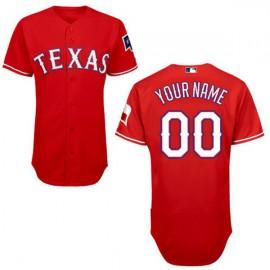 Texas Rangers Authentic Style Personalized Alternate 1  Red Jersey
