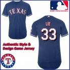 Texas Rangers Authentic Style Road Blue Jersey Cliff Lee #33