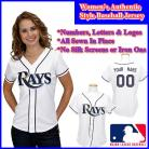Tampa Bay Rays Authentic Personalized Women's White Jersey