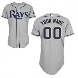 Tampa Bay Rays Authentic Style Personalized Road Gray Jersey