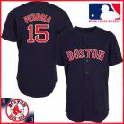 Boston Red Sox Authentic Style Away Navy Jersey #15 Dustin Pedroia