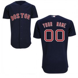 Boston Red Sox Authentic Style Personalized Alternate Road Blue Jersey