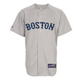 Boston Red Sox Authentic Style Personalized Road Gray Jersey