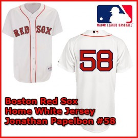 Boston Red Sox Authentic Style Home White Jersey Jonathan Papelbon #58