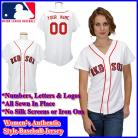 Boston Red Sox Authentic Personalized Women's White Jersey