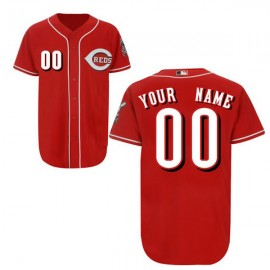 Cincinnati Reds Authentic Style Personalized Alternate Red Jersey
