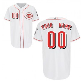 Cincinnati Reds Authentic Style Personalized Home White Jersey