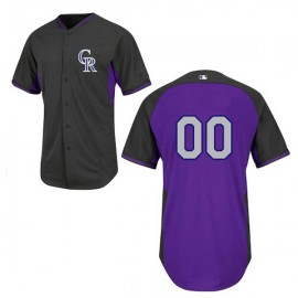 Colorado Rockies Authentic Style Personalized BP Black  Jersey