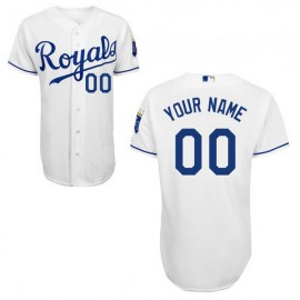 Kansas City Royals Authentic Style Personalized Home White Jersey