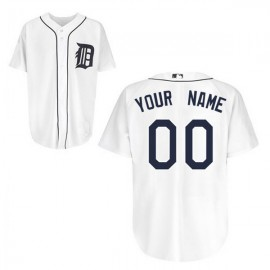 Detroit Tigers Authentic Style Personalized Home White Jersey