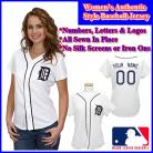 Detroit Tigers Authentic Personalized Women's White Jersey