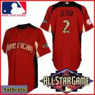 American League NY Yankees Authentic Derek Jeter 2011 All-Star BP Jersey