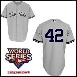 New York Yankees Authentic Style Road Gray Jersey Mariano Rivera #42