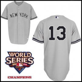 New York Yankees Authentic Style Road Gray Jersey  Alex Rodriguez  #13