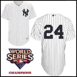 New York Yankees Authentic Style Home Pinstripe Jersey Robinson Cano #24