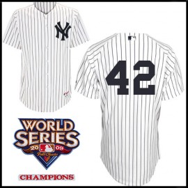 New York Yankees Authentic Style Home Pinstripe Jersey Mariano Rivera #42