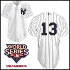 New York Yankees Authentic Style Home Pinstripe Jersey Alex Rodriguez #13