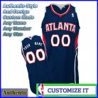 Atlanta Hawks Authentic Style Road NBA Basketball Jersey Blue