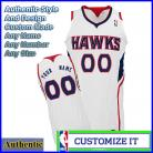 Atlanta Hawks Authentic Style Home NBA Basketball Jersey White