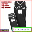 Brooklyn  Nets Custom Authentic Style Black Road Jersey