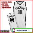 Brooklyn  Nets Custom Authentic Style Home Jersey White