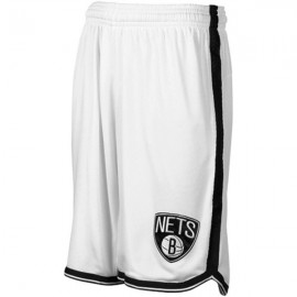 Mens Brooklyn Nets White Authentic Style On-Court Shorts