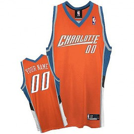 Charlotte Bobcats Custom Authentic Style Road Jersey Red