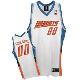 Charlotte Bobcats Custom Authentic Style Home Jersey White