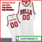 Chicago Bulls Custom Authentic Style Home Jersey White