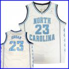 North Carolina Tar Heels  Authentic Style Jersey White #23 Michael Jordan