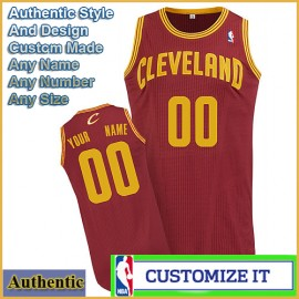 Cleveland Cavaliers Custom Authentic Style Road Jersey Red