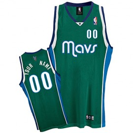 Dallas Mavericks Custom Authentic Style Alternate Jersey Green