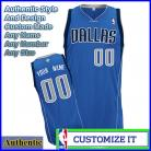 Dallas Mavericks Custom Authentic Style Road Jersey Blue