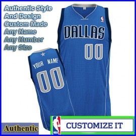 Denver Nuggets Custom Authentic Style Classic Away Blue Jersey