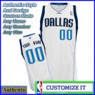Dallas Mavericks Custom Authentic Style Home Jersey White