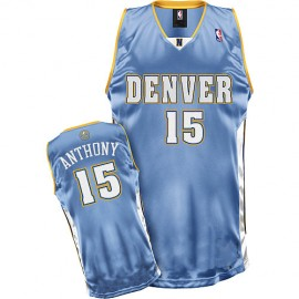 Denver Nuggets Authentic Style Road Jersey Blue #15 Carmelo Anthony